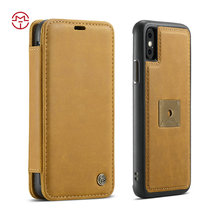 Mobile phone accessories, leather wallet case for iphone x 6 leather luxury leather for iphone case