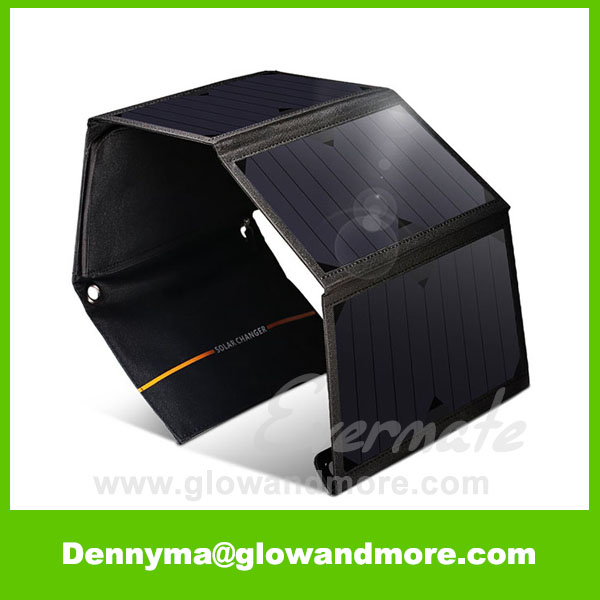24W Folding Portable Solar Panel Charger for Outdoor Activities
