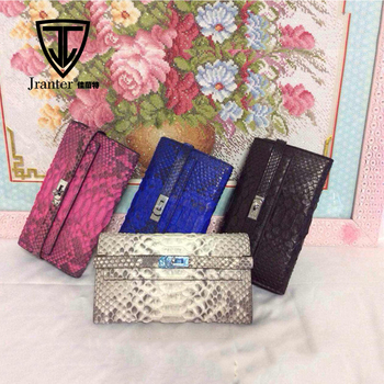 Jranter Luxury Python Snake Skin Clutch Fashion Female Wallet