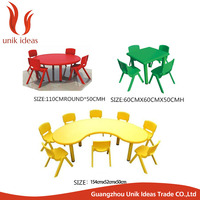 2015 Newest design children plastic study Table and chairs For Kids