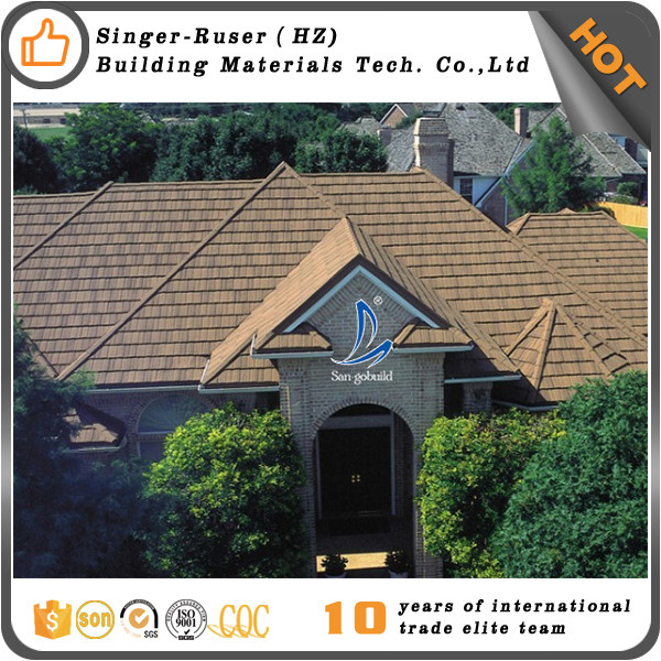 Cheap Building Materials Roof Tiles , Stone Coated Metal Roof Sheet