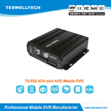 Teswell 4ch mini SD card 2x128GB 3G gps wifi mobile digital video recorder 3G GPS WIFI AHD 720P mdvr competitive people counting