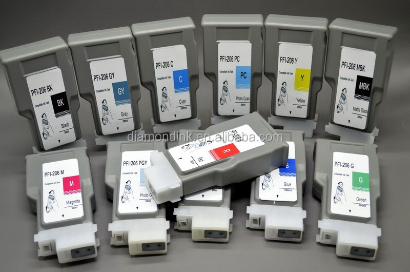 PFI106 PFI206 ink tanks with chip&ink for canon IPF6450 printer ink cartridge
