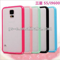 New arrival PC Matte Clear Back Skin TPU Bumper Frame Case Cover for Samsung Galaxy S5 I9600