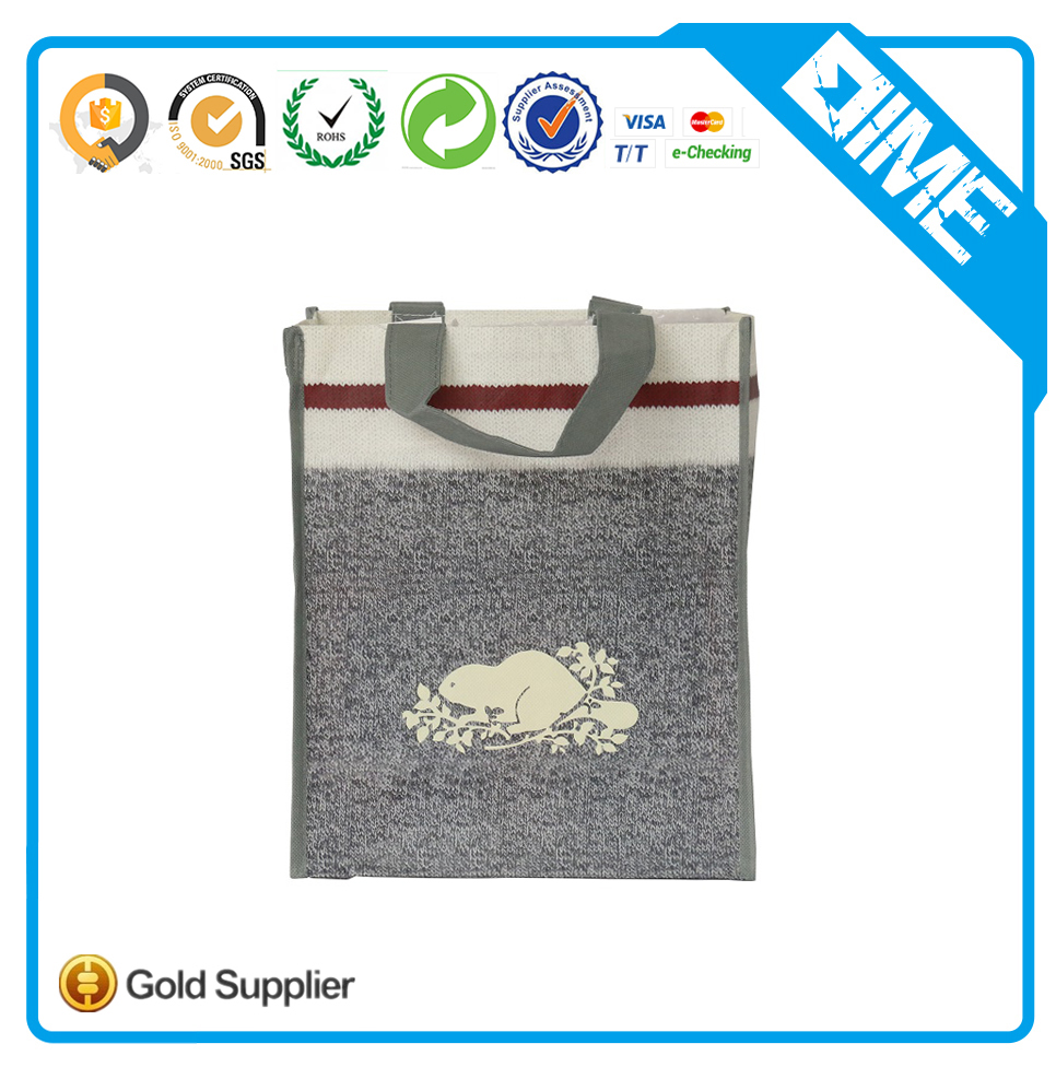 Promotional Wholesale Laminated Cloth Fashion Cheap Fabric Woven Bag