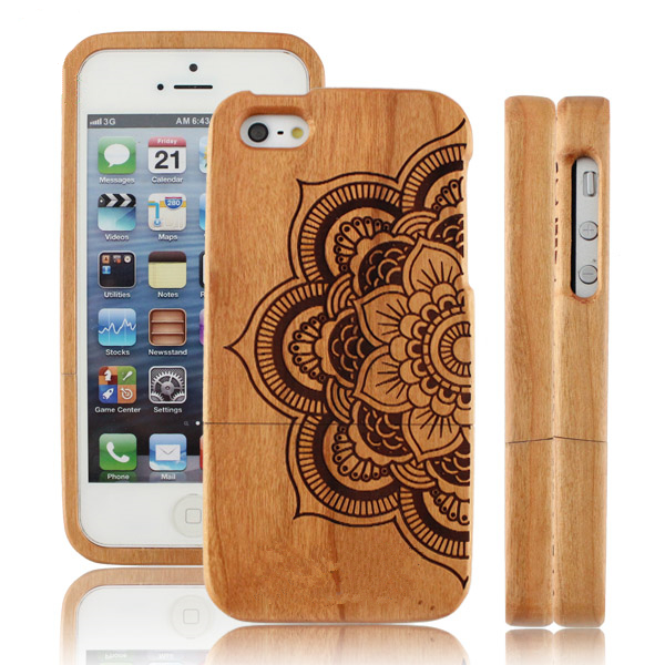 Angel's Trumpet OEM Design PC Wooden Smart Phone Case Custom for iPhone 6 Case,for iPhone 6s plus Case
