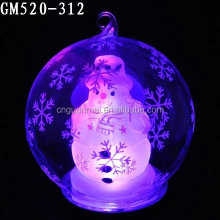 Christmas Glass Snow Ball with LED Light