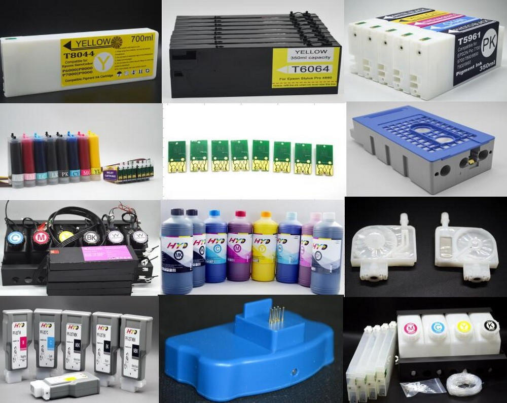 Empty ink cartridges for Epson SureColor T3000 T5000 T7000 refillable ink cartridge
