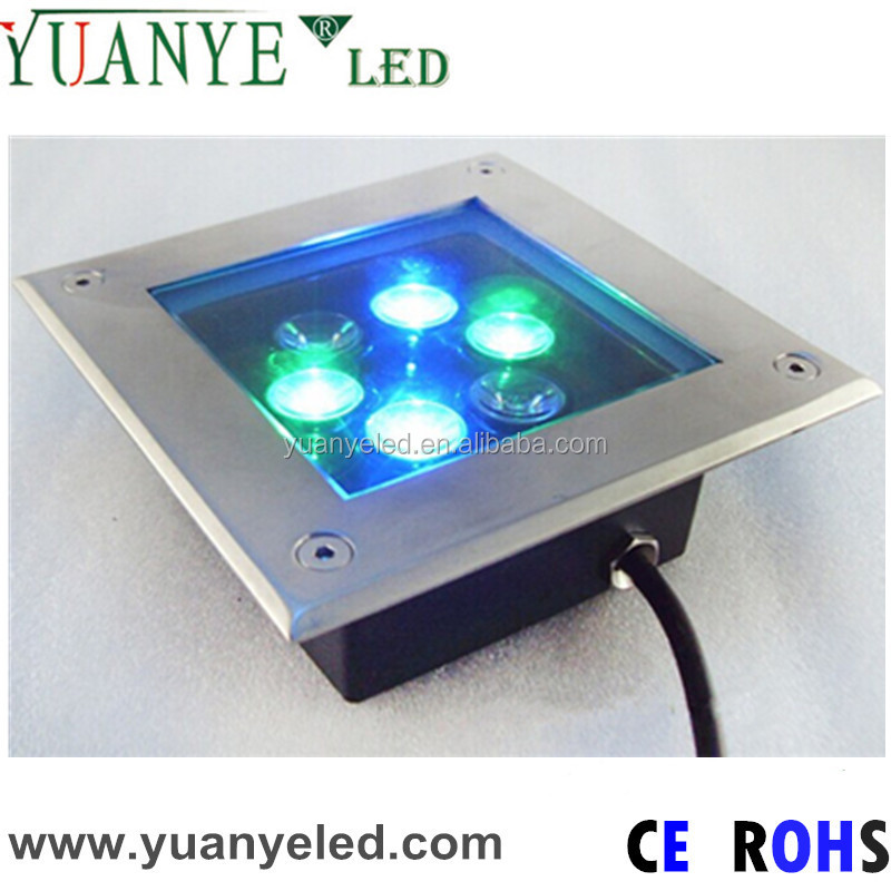6w square rgb led floor mounted light can let people and car pass