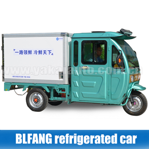 electric food delivery vehicle refrigerated cargo tricycle for milk/meat delivery