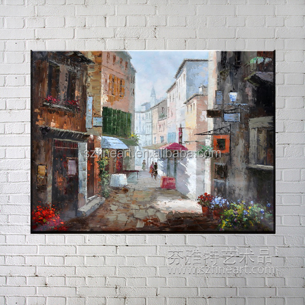 Famous Handmade European Taste Impression Natural Scenery Painting