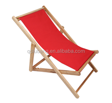 Foldable Outdoor Wood Sling Chair Eucalyptus Hardwood, Red
