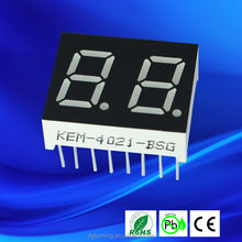 16mm digital led 2 digit display 7 segments ultra brightness white led display