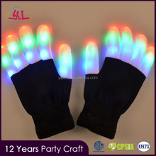 Halloween Adult LED Finger Light Up Party Gloves For Men