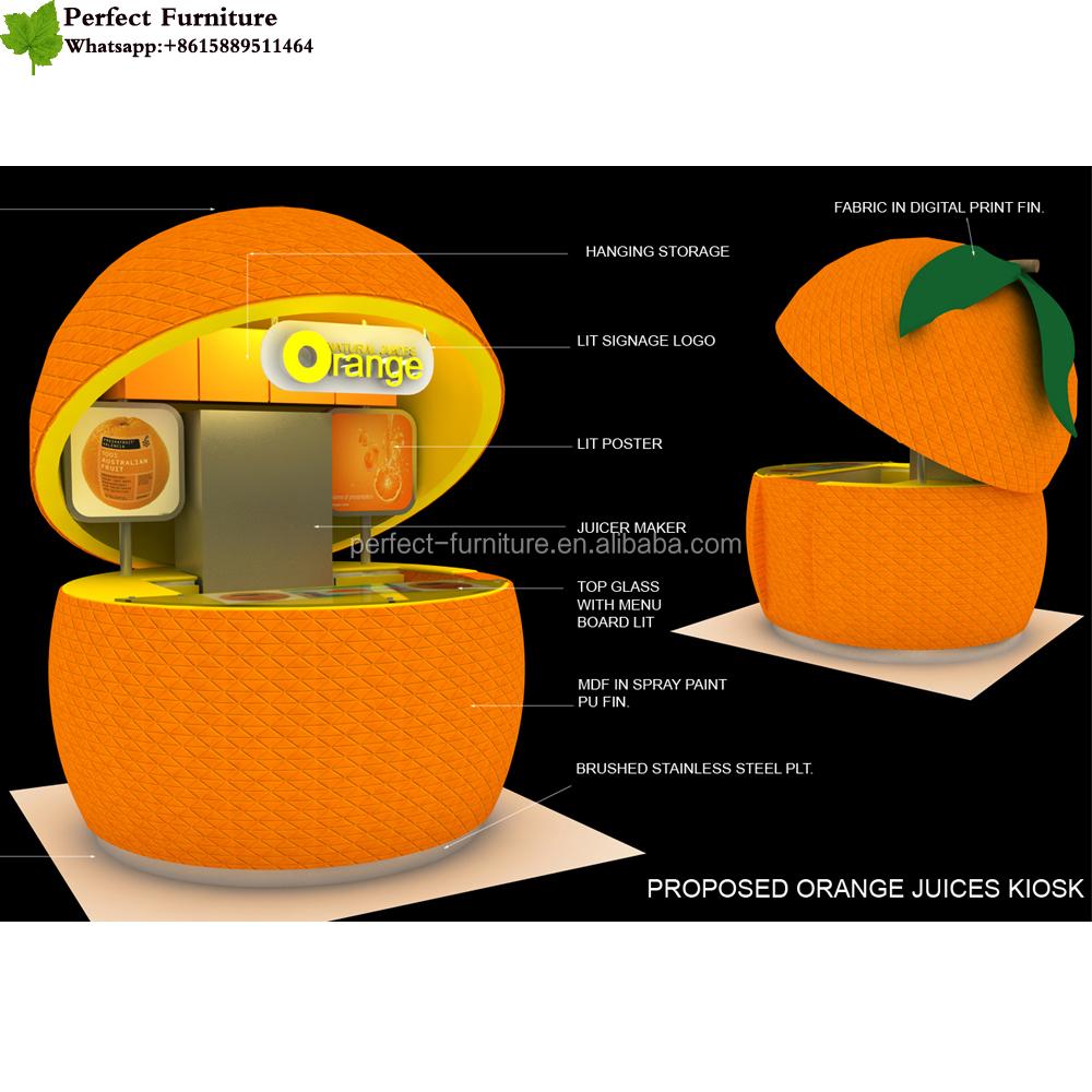 Kiosk Used Prefabricated Bars Sandwiches Candy Kiosk Fruit Juice ...