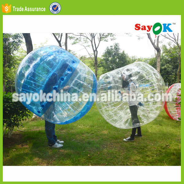 outdoor inflatable human body bumper ball suit for sale
