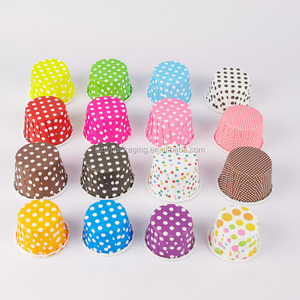 Paper Baking Supplies Muffin Cake Cups Polka Dots Wedding Kitchen Decorating Coated Custom Cupcake Cases