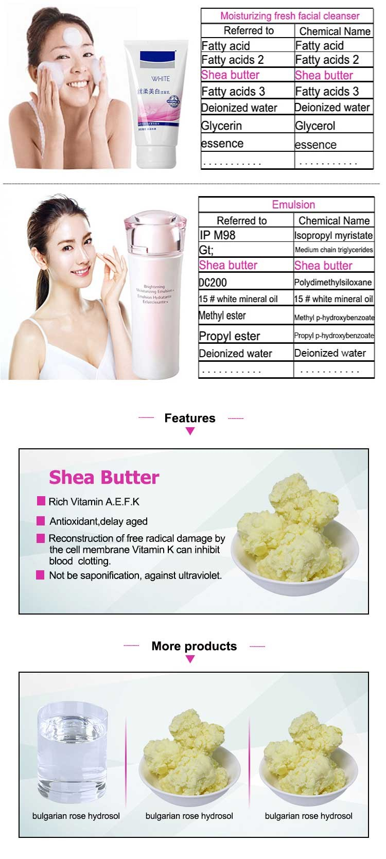 Cosmetics Raw materials100% Pure Unrefined Shea Butter For Skin care