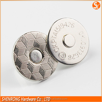 Jeans Magnetic Snap Clothes Parts Magnetic Metal Nickle Magnetic Button Wholesale