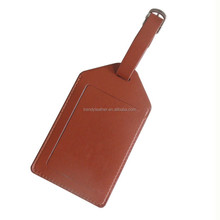 Customized airline leather luggage tag, cheap baggage tag