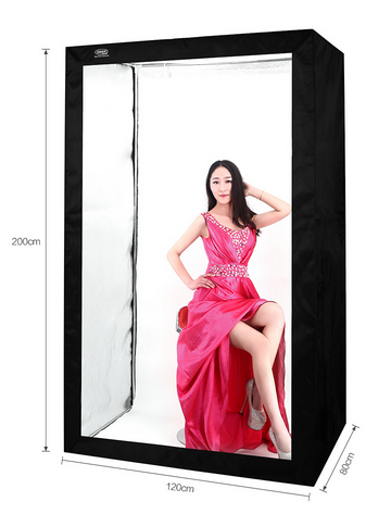 DEEP LED Professional Portable Softbox 120 * 80*200cm LED Photo Studio Video Light booth with LED Lights