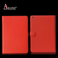 Book design genuine leather cover case for ipad mini