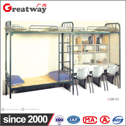Factory supply high qualit metal simple rectangle space saving furniture loft specification of triple metal bunk bed