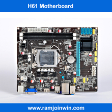 Brand/OEM 1333/1066/800MHZ memory ddr3 H61 best motherboard price