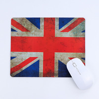 Eco friendly mouse pad logo printing stitched mouse pad with anti slip rubber