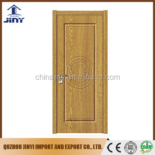 Best popular Romania interior flush door with pvc foil coating