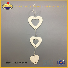 Ceramic heart christmas tree decoration hanging ornaments