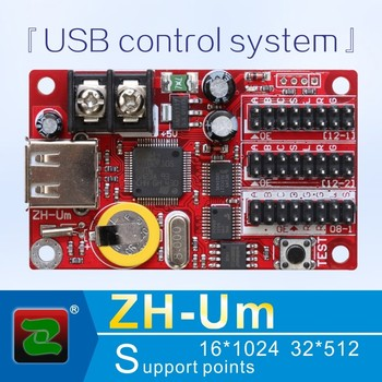 Zhonghang p10 rgb led control card support red green blue color indoor display controller ZH-Um