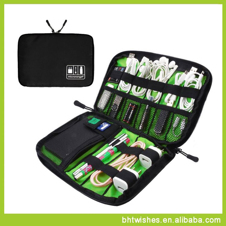 digital usb cable storage bag ,BHT039 storage bag container for cellphone/data cable/earphone/power bank
