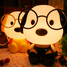 Super cute Dr. dog lamp eye protection baby toy led night light