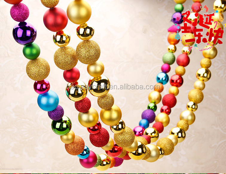 Mixed color christmas ball garland large christmas ball ornament