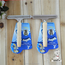 Wooden Handle One Side Metal Dog Hair Bursh Dog Comb Wholesale Dog Product