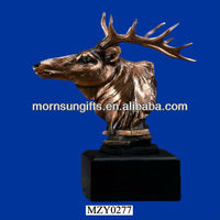 Artificial Exquisite Deer Head Bust Wholesale Moose Head