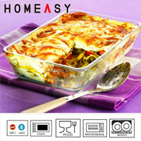 Heat-resistant and oven safe borosilicate glass pizza pan