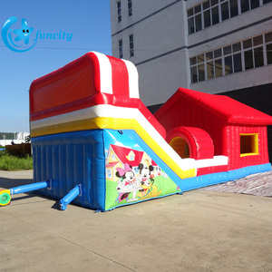Commercial Used EN14960 Inflatable Fun City Bounce Combo/Inflatable Bouncer House /Fun City Jumping Bounce With Slide For Kids