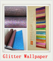 High Quality Make Wallpaper Pu Walls Paper Colorful Glitter Leather For Bag Or Shoes