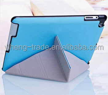 4 Shapes Stand Design Magnetic Leather Case for ipad 4 3 2 Smart Cover Smartcover for iPad4 Utrathin Fashion Style colorful
