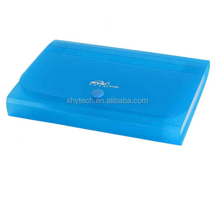 Blue foldable A4 thick plastic hanging file folder