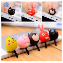 Cartoon Cute Earphone Jack Cap Plug Anti Dust Plug For Smartphone