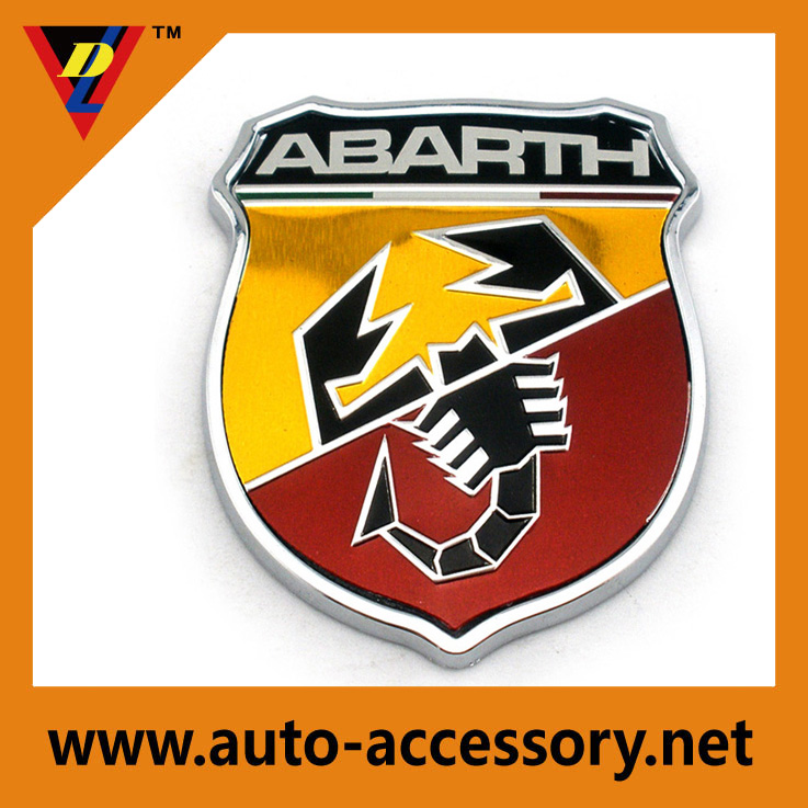 2017 New Chrome car badge decoration sticker Custom metal logo emblem
