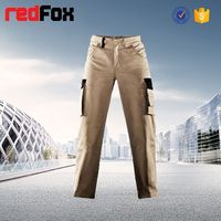 wholesale china khaki cargo pants with a lot of pockets