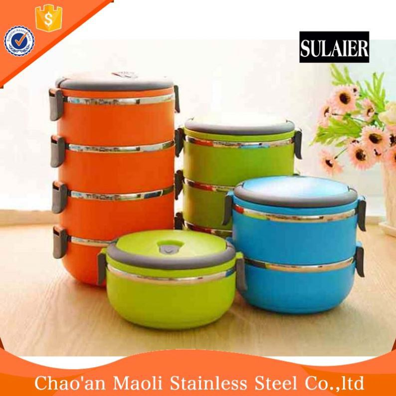 Most Popular Luxurious Corn Starch Round Shape Pp Food Warmer Plastic Lunch Box