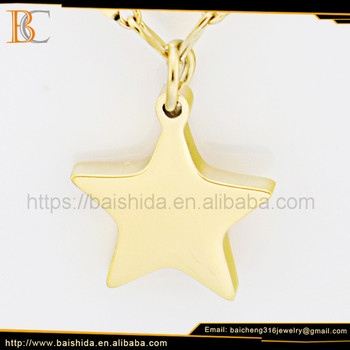 OEM/ODM New Arrival Design Pentacle Shape Necklaces Jewelry With Stainless Steel By Baicheng