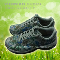 camouflage fashion outdoor running shoes for men to sport or hiking made in china