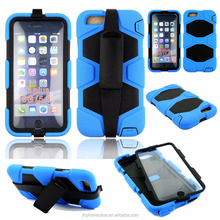 360 full body clip stand Unbreakable waterproof cell phone case for Apple iPhone 6 plus 5.5' case phone accessory