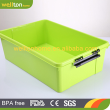 high quality plastic compartment storage box adjustable plastic storage box with handle
